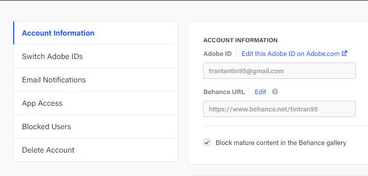 edit your behance URL