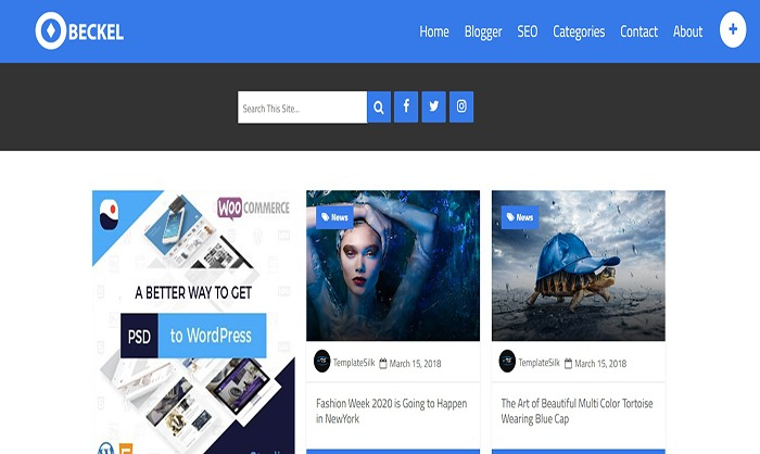 Tải template Blogspot chuẩn SEO - Beckel