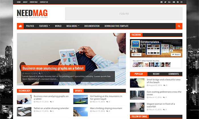 Template Blogspot tin tức