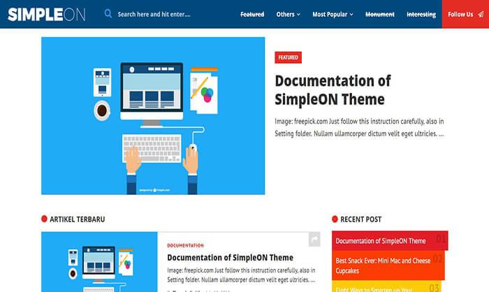 Simpleon - Template Blogspot chuẩn SEO
